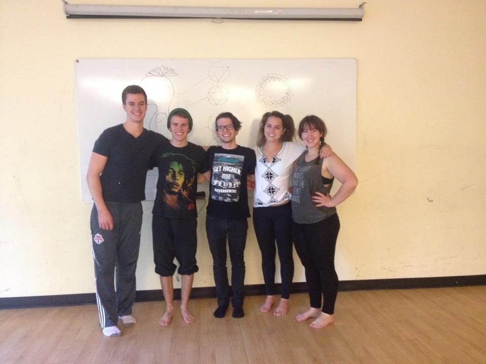 Cast members (from left) Sanger, Walker, Jackson, Turner, and Pashkovsky. Photo by Melinda Mohammed.