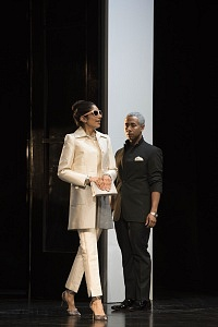 Harveen Sandhu as Eliza Doolittle, with Jeremy Carver-James, in Pygmalion. Photo: Emily Cooper