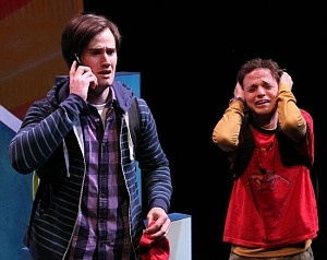 "Ryan Bondy and Aaron Stern in Carousel's 2012 production of ""Spelling 2-5-5"""