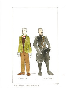 Kelly Wolf's costume designs for Prof. Claude Knight /Othello, played by Michael Fusillo in the DART production