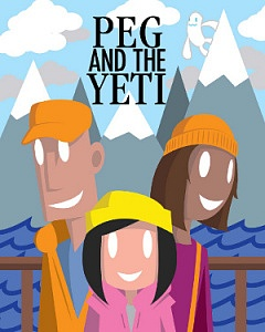 "Carousel's poster art for its touring production of ""Peg and the Yeti"""