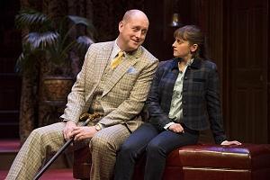 Thom Marriott (Sir George Crofts) and Jennifer Dzialoszynski (Vivie Warren). Photo by David Cooper.