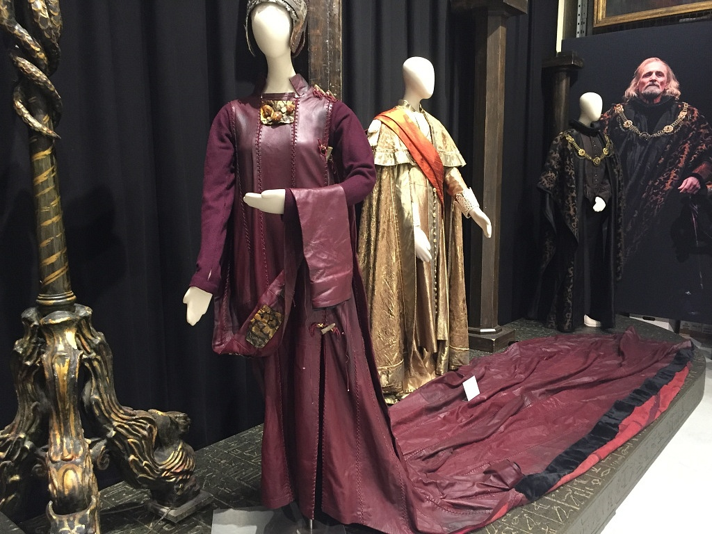 Goneril's costume from Lear (1972). This production went on tour so the length of the train had to be cut down, it was about twice this length in the original production.