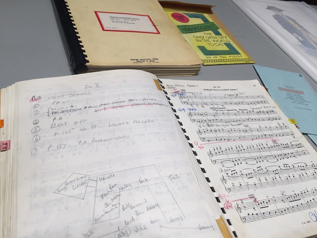 Stage Manager cue book for Mahagonny