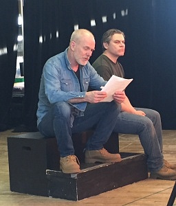 J.D Nicholsen (Morgan) and Tony Munch (Angus) rehearsing