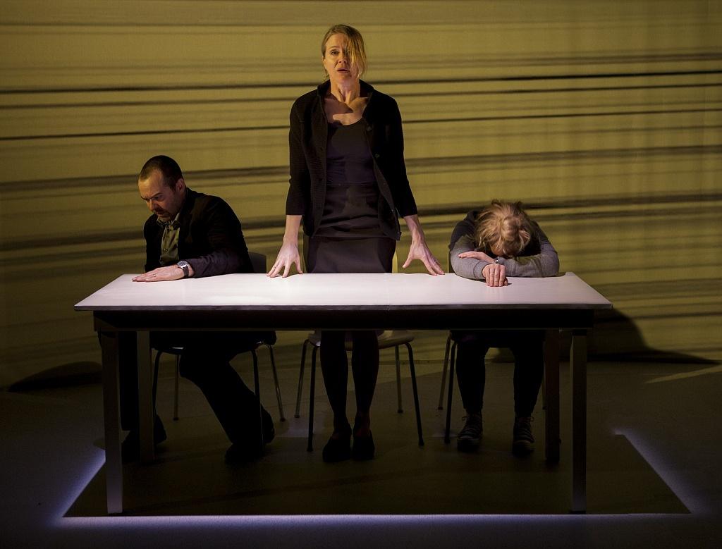 Paul Braunstein, Amy Rutherford and Vivien Endicott-Douglas in Infinity. Photos by Cylla von Tiedemann