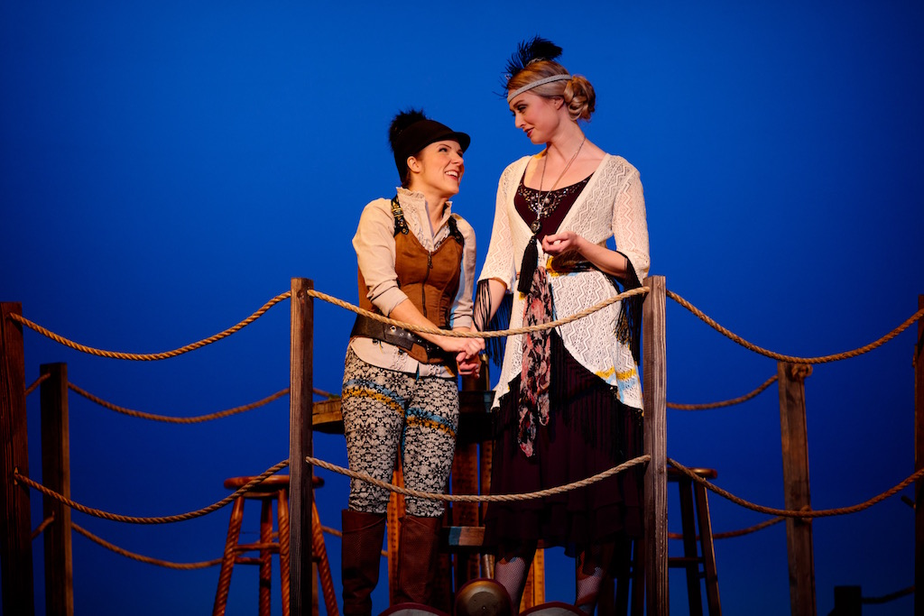 Ella Simon (Luciana) and Tess Degenstein (Adriana). Photo by Barbara Zimonick.