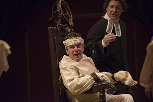Tom McCamus as George III and Patrick McManus as Dr Willis in The Madness of George III. Photo by David Cooper.